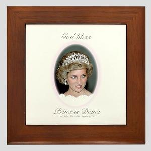 HRH Princess Diana Remembrance Framed Tile