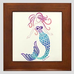 Tribal Mermaid Framed Tile