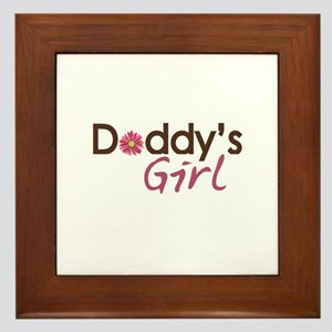 Daddy's Girl Framed Tile