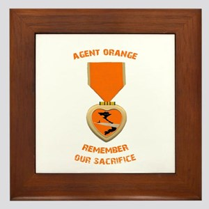 Agent Orange Framed Tile