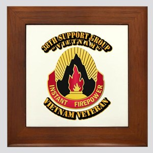 38th Support Group Framed Tile