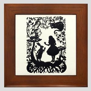 Alice in Wonderland Silhouette Framed Tile