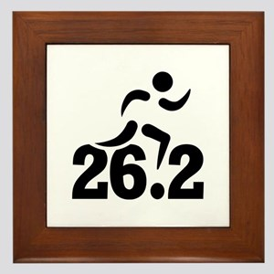 26.2 miles marathon Framed Tile