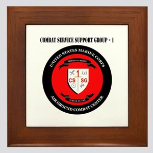 Combat Service Support Group - 1 with Text Framed