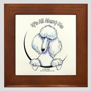 White Standard Poodle IAAM Framed Tile