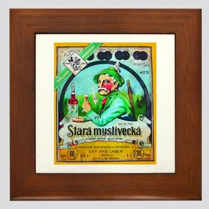 Czech Beer Label 2 Framed Tile