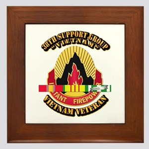 38th Support Group w SVC Ribbon Framed Tile