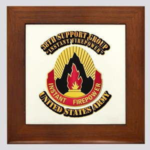 38th Support Group with Text Framed Tile