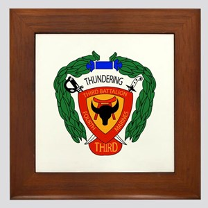 3rd Battalion 4th Marines with Text Framed Tile