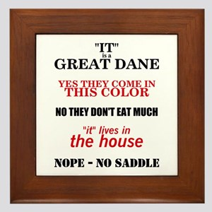 Great Dane Walking Answers Framed Tile