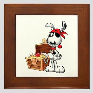 The Nauti Dog Pirate Framed Tile