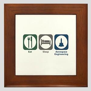 Eat Sleep Aerospace Engineering Framed Tile