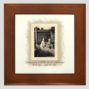 Cousins and Childhood Framed Tile