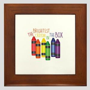 Brightest Crayon Framed Tile