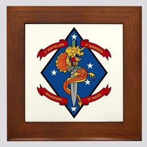 1st Bn 4th Marines Framed Tile
