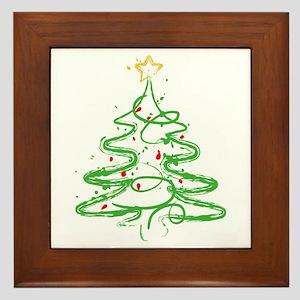 Christmas Tree Framed Tile
