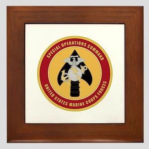 Marine Special Ops Cmd Framed Tile