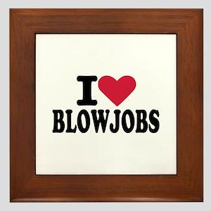 Blowjob Framed Tile