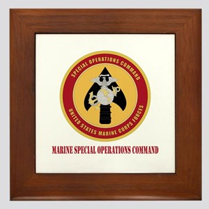 Marine Special Ops Cmd with Text Framed Tile