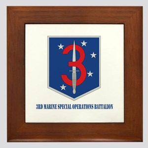 3d Marine Special Operations Bn with Text Framed T