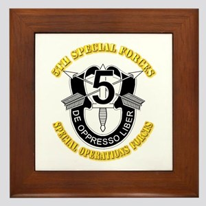 5th Special Forces - DUI Framed Tile