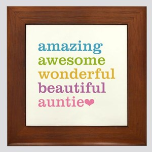 Auntie - Amazing Awesome Framed Tile