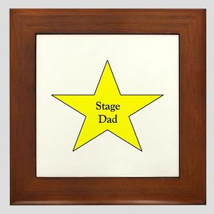 Proud Stage Dad Framed Tile