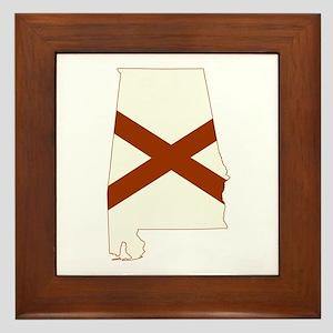 Alabama Flag Framed Tile