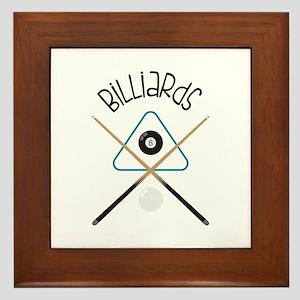 Billiards Framed Tile