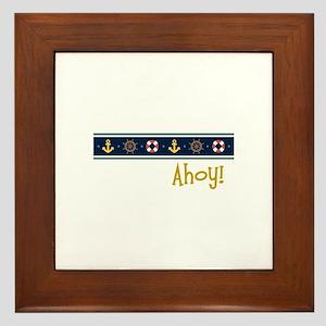 Ahoy Framed Tile
