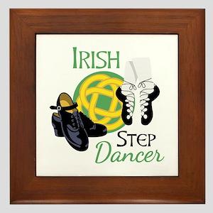 IRISH STEP Dancer Framed Tile