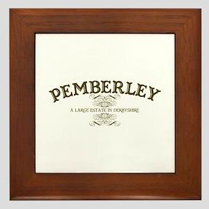 Pemberley A Large Estate In Derbyshire Framed Tile