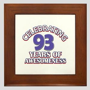 Celebrating 93 Years Framed Tile