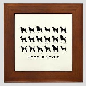 Poodle Styles: Black Framed Tile