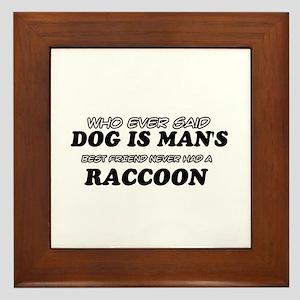 Raccoon designs Framed Tile