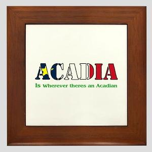 Acadia is where LARGE Framed Tile
