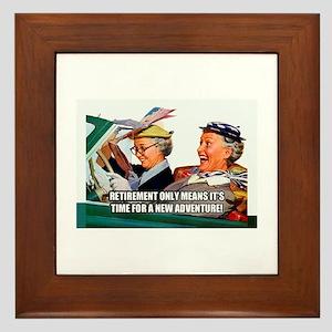 Retirement Adventure Framed Tile