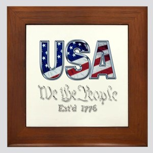 USA Framed Tile