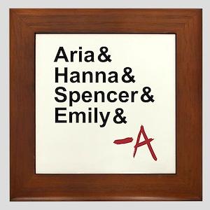 Aria & Hanna & Spencer & Emily & A Framed Tile