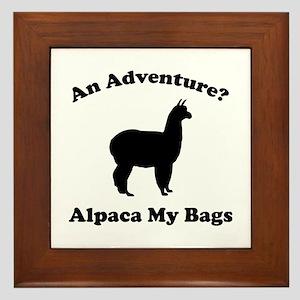 An Adventure? Alpaca My Bags Framed Tile