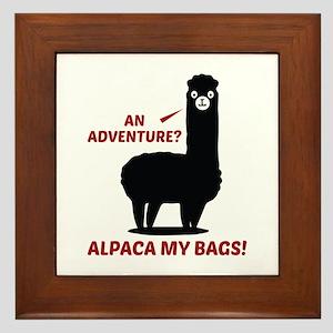 Alpaca My Bags Framed Tile