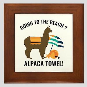 Alpaca Towel Framed Tile
