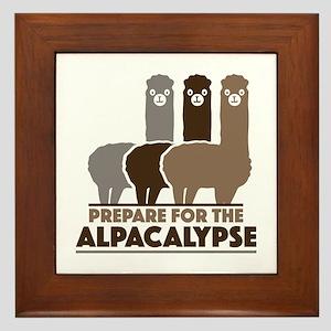 Prepare For The Alpacalypse Framed Tile