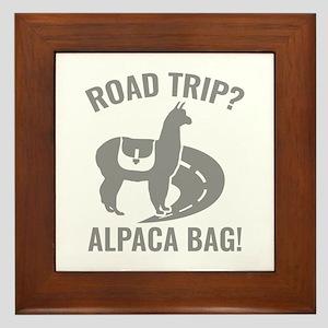 Road Trip? Framed Tile