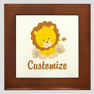 Custom Baby Lion Framed Tile