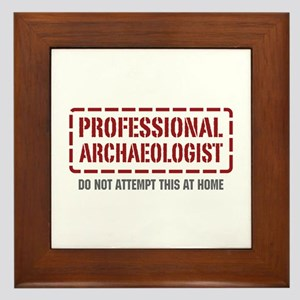 Professional Archaeologist Framed Tile