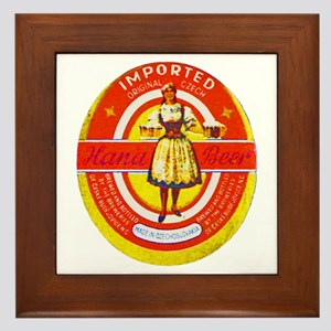 Czech Beer Label 6 Framed Tile