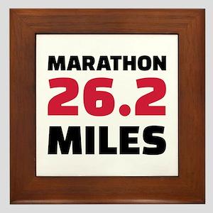 Marathon 26 miles Framed Tile