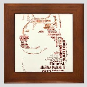 Malamute Words Framed Tile