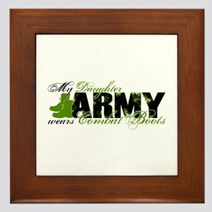 Daughter Combat Boots - ARMY Framed Tile